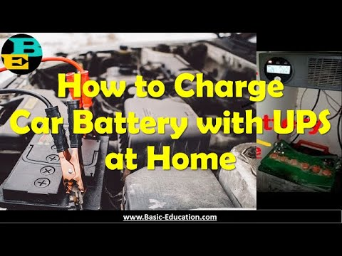 Car Battery Charging with UPS at Home in English | Learn how to charge