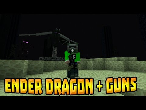KILLING THE ENDER DRAGON WITH GUNS?!!! - Minecraft Pocket Edition