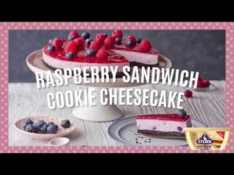 How to Make No Bake Raspberry Cookie Cheesecake