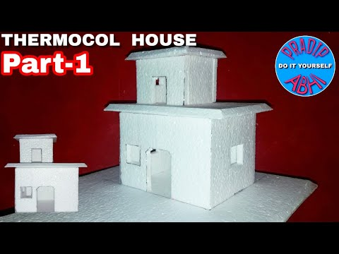 DIY - Thermocol House    How To Make House    Thermocol Craft For School Project