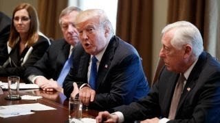 Trump meets with Democrats on camera over immigration