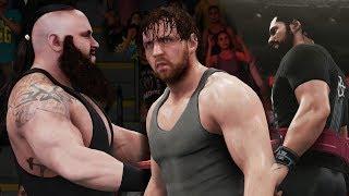 WWE 2K18 - Dean Ambrose and Seth Rollins vs Braun Strowman - 2 on 1 Tornado Tag (Elimination Match)