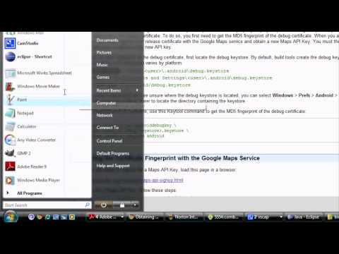 Android Tutorial & Lessons 31: Google maps / debug api key / get rid of gray tiles