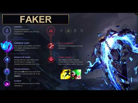 SKT Faker Build Xerath - New Runes Season 8 solo vs LeBlanc (League of Legends Guide)