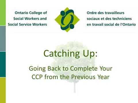 Catching Up: Going Back to Complete Your CCP from the Previous Year