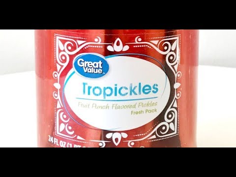 Walmart Tropickles Fruit Punch Flavored Pickles Review