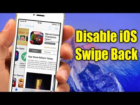 Disable iOS Swipe Back - iOS 8 Cydia Tweak