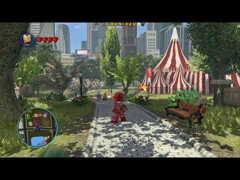LEGO Marvel Super Heroes - Open World Free Roam - Central Park Gameplay