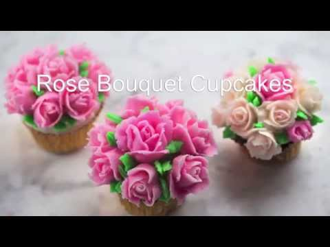 How to Make Buttercream Rose Cupcakes