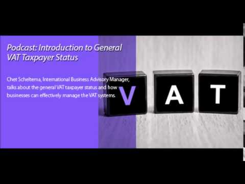 Introduction to General VAT Taxpayer Status