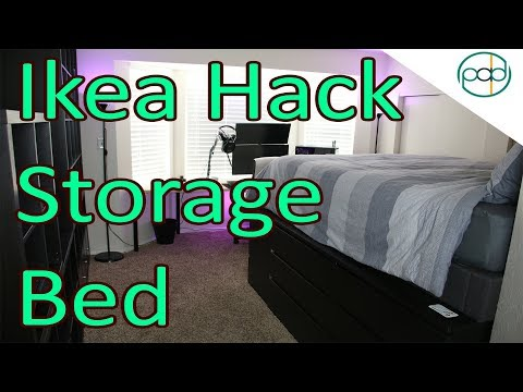 DIY IKEA Hack Super Storage Bed