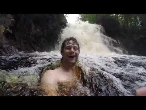 Splooshing in a Waterfall