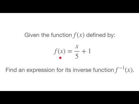 Inverse Functions - How to find the inverse of a linear function - Tutorial 2