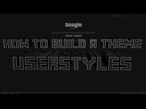 How to make a custom theme with userstyles stylish (Basics)