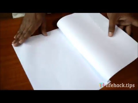 Book Binding using Rubber band and Paper Clip