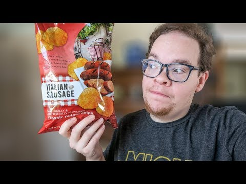 Trying Weird Chip Flavors - Italian Sausage