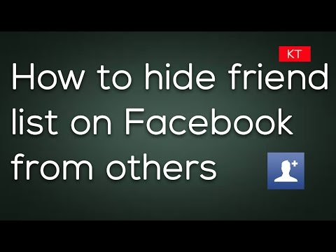 How to hide friend list on Facebook and maintain your privacy