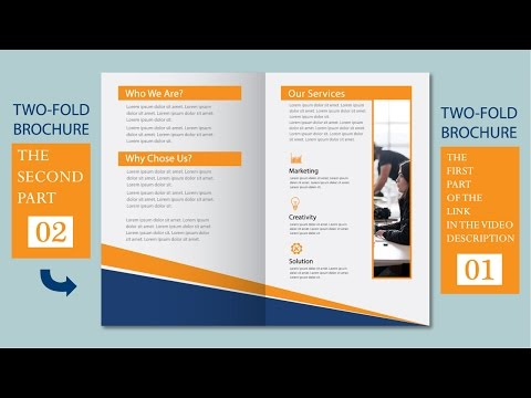 Illustrator tutorial - Two fold business brochure template part 02