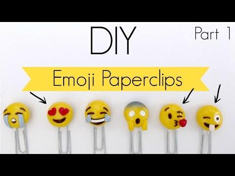 DIY Emoji Paperclip |Polymer Clay| Tutorial