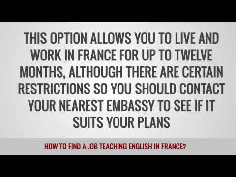 ITTT FAQs - How to find a job teaching English in France