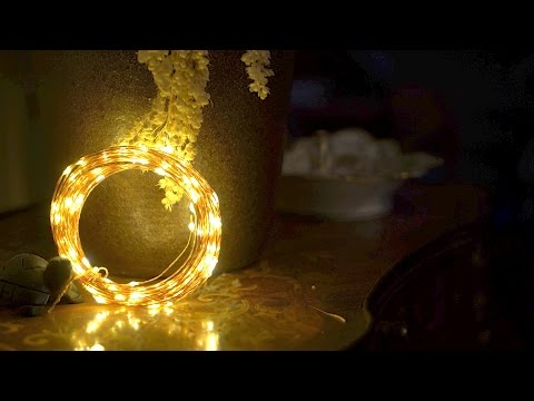 Using String Lights for Bokeh - Copper in 4k UHD