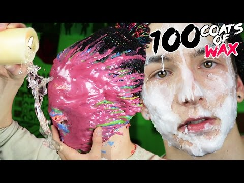 100 LAYERS OF CANDLE WAX ON MY FACE AND HANDS!