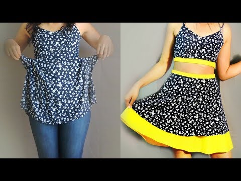 How to Lengthen a Short Skirt or Dress w/ NO SEWING | DIY Tutorial