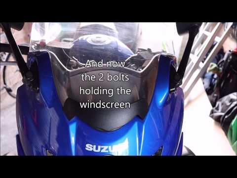 How to Change the Windscreen (on a Suzuki GSX650F)