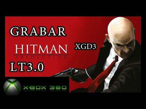 GRABAR XGD3 XBOX 360 CON BURNER MAX ( HITMAN ABSOLUTION ) PARA LT 3.0