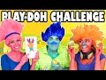 Trolls Play Doh Challenge Poppy Vs Branch Vs Dj Suki Disneytoysfan