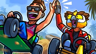 GTA 5 But We Just Do Awesome Go-Kart Stunts The Whole Time!