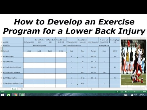 How to Develop an Exercise Program for a Lower Back Injury