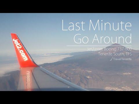 LATE GO AROUND: Jet2 Boeing 737-800 | Full Flight | Glasgow - Tenerife