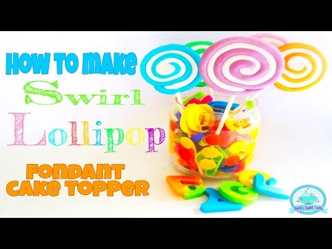 HOW TO MAKE FONDANT SWIRL LOLLIPOP | Kalel's Sweet Tooth