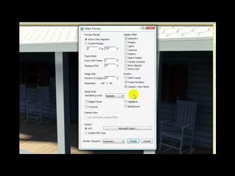 3ds Max 2012 Tutorial - Creating a Preview Animation