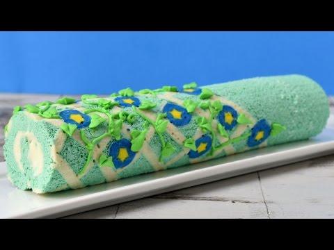 MOTHER'S DAY MORNING GLORY FLOWER CAKE ROLL, HANIELA'S