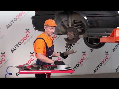 How to replace rear brake discs and rear brake pads on BMW 3 E36  TUTORIAL | AUTODOC