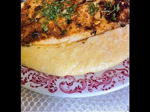 Cajun Fish & Savory Cheese Grits Recipe