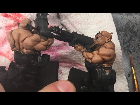 How to paint tanned flesh