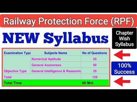 Railway RPF SYLLABUS Full Details #RPF EXAM PATTERN #RPF EXAM Qualifying mark. RPF CUT OFF MARKS