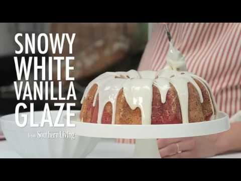 How to Make Snowy White Vanilla Glaze | MyRecipes