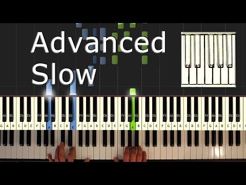 Yiruma - River Flows In You - SLOW - Piano Tutorial Easy - How to Play (synthesia)