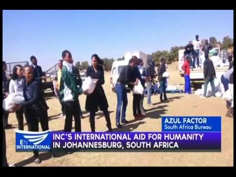 INC'S INTERNATIONAL AID FOR HUMANITY IN JOHANNESBURG,SOUTH AFRICA