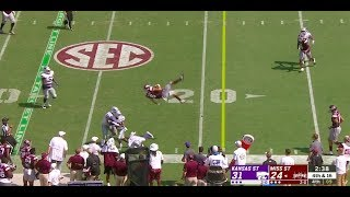 Mississippi State QB Does 360 Mid-Air After Taking Wild Hit