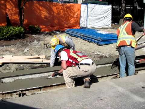 Placing Concrete Curb and Gutter by Hand
