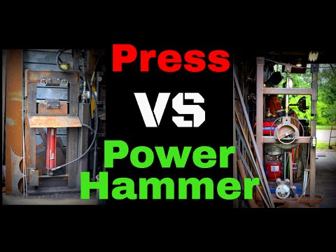 Forging Press Vs Power Hammer // Which is Right for You? Hydraulic Press or Power hammer ?