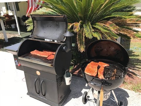 St. Louis Ribs on the Grilla Silverbac and Weber Kettle MasterTouch