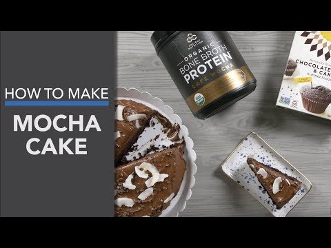Mocha Cake Recipe (with Simple Mills™ Chocolate Cake Mix)