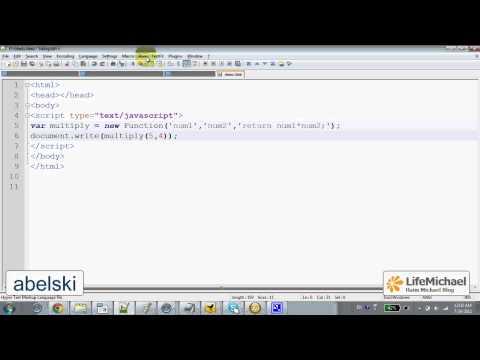 Function Object in Java Script
