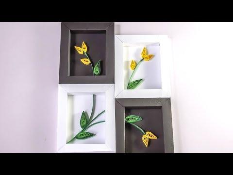 DIY Wall Decor | Paper Quilling Art for Bedroom | HandiWorks #93